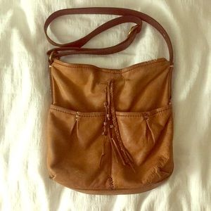Lucky Brand beautifully worn leather bag